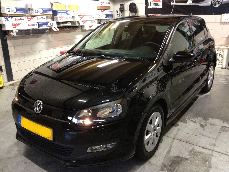 Zwarte polo auto