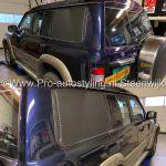 Mitsubishi doffe panelen matt zwart 3M Avery wrappen plakken