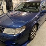 Saab 9-5 blinderen tinten 35% ramen ruiten dot matrix behandeling
