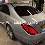 Mercedes S klasse 2013 blinderen tinten ruiten ramen 20% folie afwerking Dot matrix