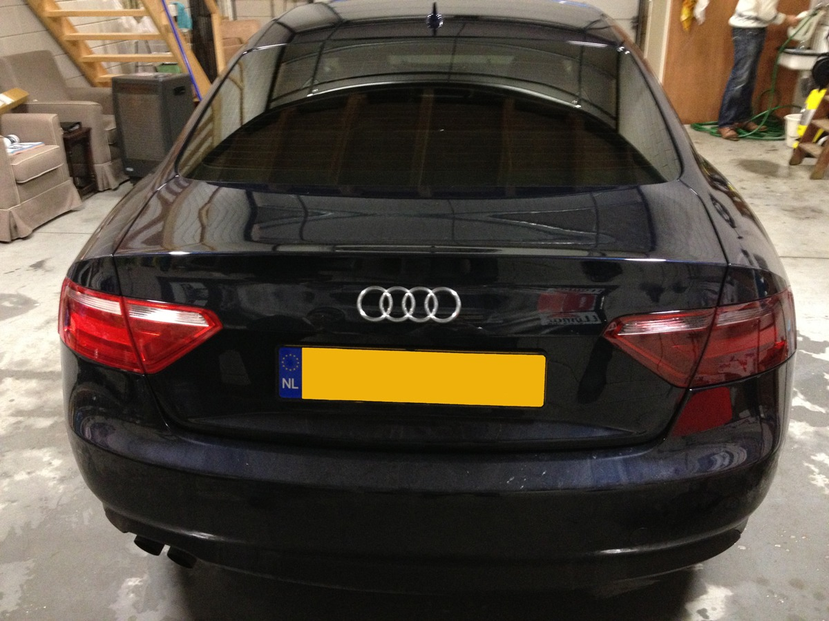achterlamp gewrapped audi a5 coupe met smoke tint / wrapping / xenon